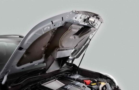Шумка капота Форестера поможет утеплить двигатель